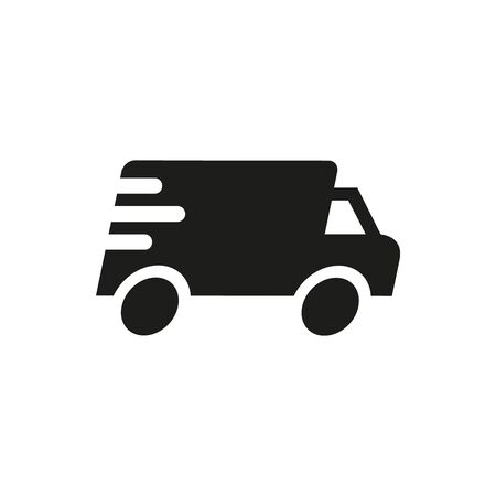 Fast delivery icon on white background. Vector illustration Ilustração