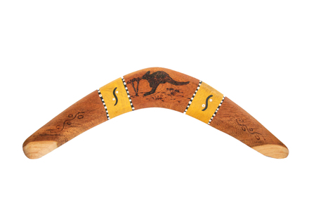 Aboriginal boomerang isolated