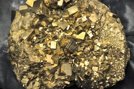 Crude of golden quartz isolated Stock Photo