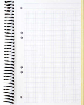 scratchpad: blank notebook sheet Stock Photo
