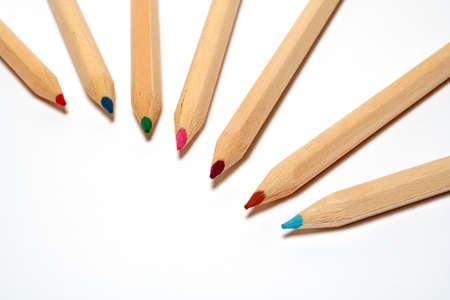Colored school pencils photo