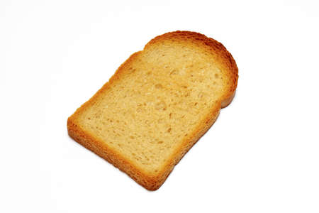 Slice of toasted bread isolated on white background with clipping path Stock Photo - 355844