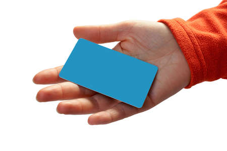 Woman with a credit card on her hand Stock Photo - 355811