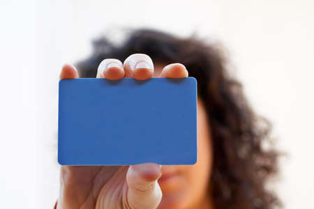 Woman with a credit card on her hand Stock Photo - 355823