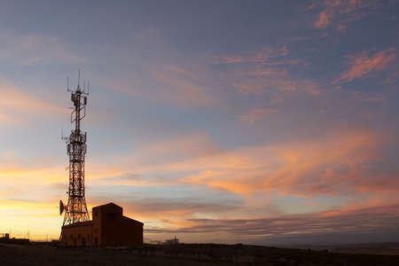 airwaves: Communication tower showing antennas