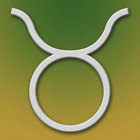 Taurus Aluminum Symbol on background degraded