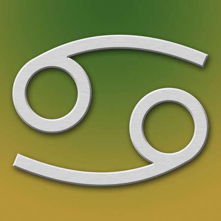 Cancer Aluminum Symbol on background degraded photo