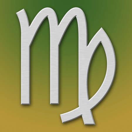 Virgo Aluminum Symbol on background degraded Stock Photo - 359298