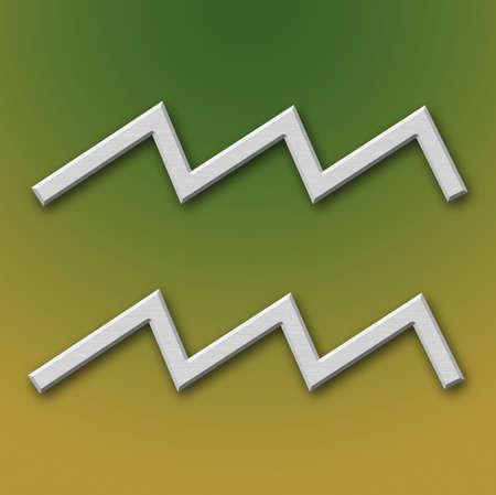 Aquarius Aluminum Symbol on background degraded Stock Photo - 359302