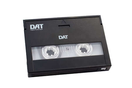 dat: Digital audio tape DAT with clipping path included.