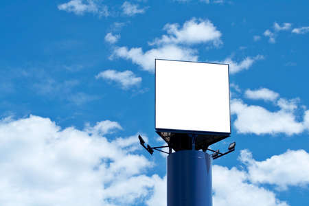 Blank billboard on cloudy sky, just add your text photo