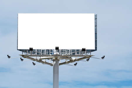 Blank billboard on cloudy sky, just add your text Stock Photo - 417974