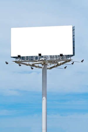 Blank billboard on cloudy sky, just add your text Stock Photo - 417973