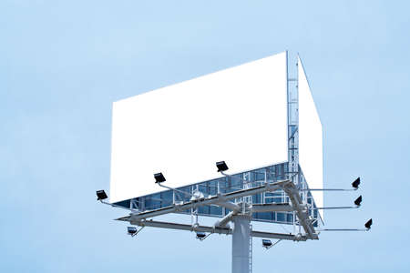proclamation: Blank billboard on cloudy sky, just add your text