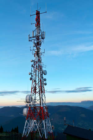 transmit: Telecomunications antennas tower