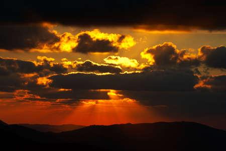 wander: Sunset of spring season in Spain
