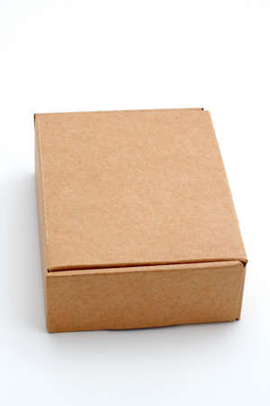 An closed cardboard box isolated on white background Stock Photo - 429384