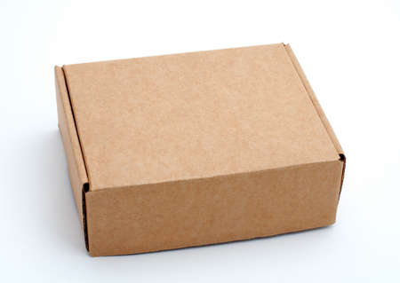 An closed cardboard box isolated on white background Stock Photo - 429385