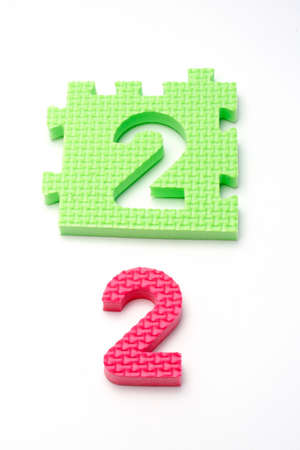 Puzzle colorful numbers for children education Stock Photo - 431059