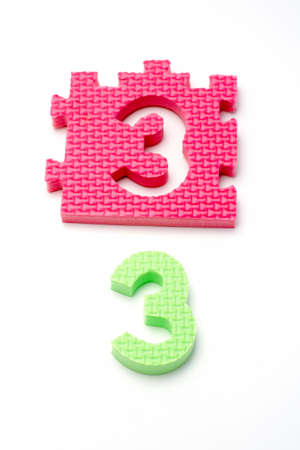 Puzzle colorful numbers for children education Stock Photo - 431064