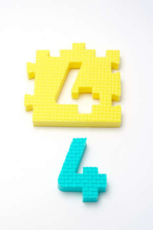 Puzzle colorful numbers for children education Stock Photo - 431062