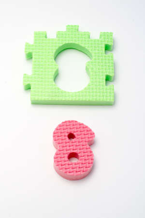 Puzzle colorful numbers for children education Stock Photo - 431055
