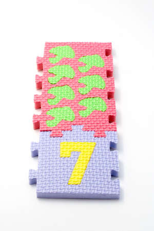 Puzzle colorful numbers for children education Stock Photo - 434897