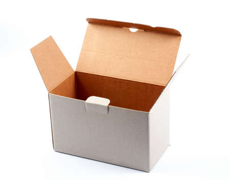 An open cardboard box isolated on white background Stock Photo - 435958