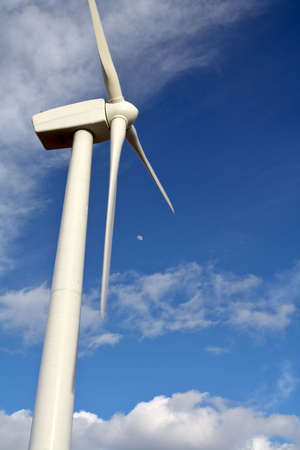 watt: Detail of wind turbine Stock Photo