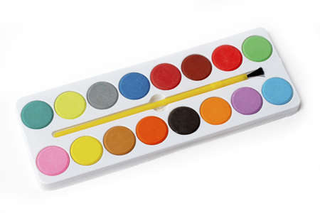 Box of Watercolors Picture Stock Photo - 446542