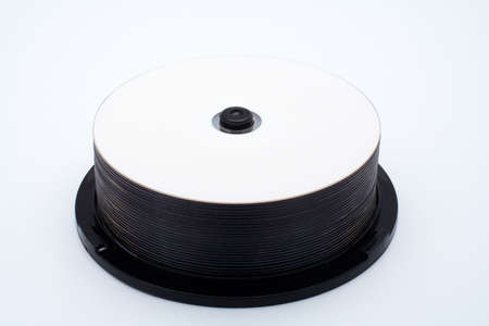 Stack of blank CDs, isolated on white background Stock Photo - 450932