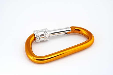 carabiner: Locking carabiner closeup