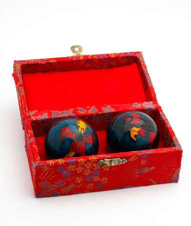harmonization: Chinese balls for massage, inside the red box