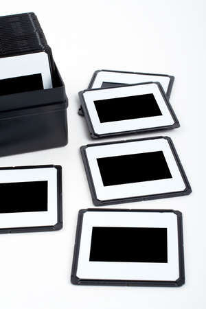 Assortment of photo frames to insert your own images, on white background photo