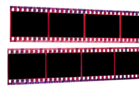 analogical: Film strip on white background
