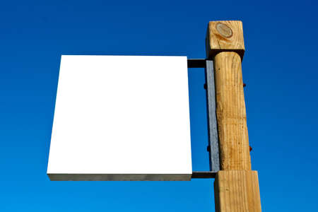 Blank billboard on blue sky, just add your text photo