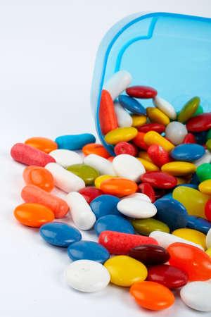 chorowity: Szczegóły słodyczy. Makro strzału na białym tle Zdjęcie Seryjne