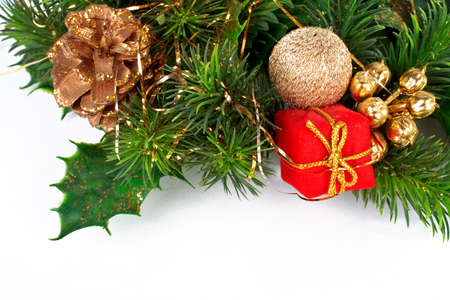 Christmas decoration on white background Stock Photo - 500471