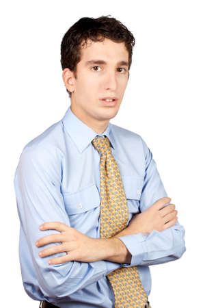 Serious business man over a white background Stock Photo - 607125