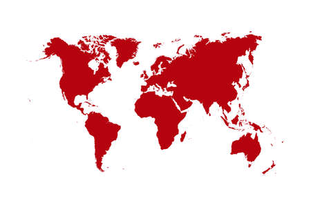 World map isolated over a white background photo