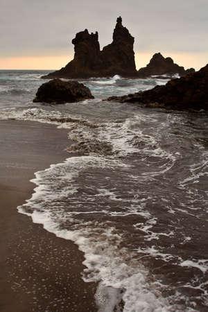 Beautiful rocks in the ocean photo