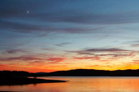 Seascape sunrise at winter photo