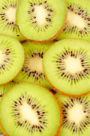 freshest: Kiwi fruit over a white background
