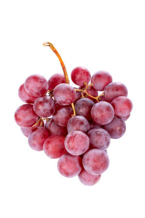 A red grapes bunch on the white background. Path included
