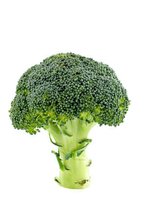 picked: Fresh and healthy broccoli isolated on white background