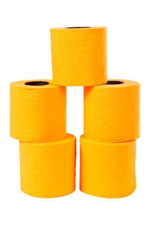 Some rolls of toilet paper on a white background Stock Photo - 706122