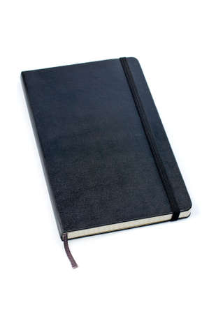 Black notebook with soft shadow on white background Stock Photo - 781322