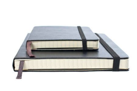 Two blacks notebooks with soft shadow on white background Stock Photo - 795970