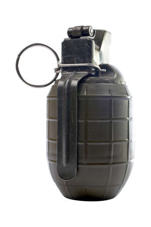 Military hand grenade isolated, with clipping path