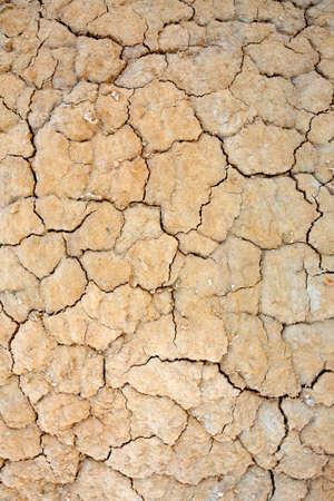 encogimiento: Cierre de terreno agrietado en el desierto. El calentamiento de la atm�sfera concepto